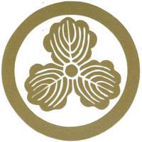 スコッチカル家紋シール 丸に三つ柏 金  SCK-038 約35mm