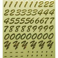 スコッチカルインレタシート 15mmセットパック 書体  ブラッシュスプリクト 数字 B7200N-431 ミラーゴールド