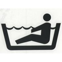 スコッチカルサインシール SC500-036 約90㎜ピクトステッカー 浴室