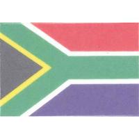 国旗フェイスシール 南アフリカ 30mm×45mm 薄手