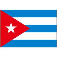インクジェット国旗シール キューバ Lサイズ 約66mm×99mm