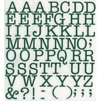 スコッチカルインレタシート 15mmセットパック 書体  アメリカンタイプライターM 大文字 A1807L-56 ダークグリーン