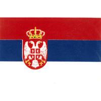 スコッチカル国旗シール セルビア Lサイズ 100mm×150mm