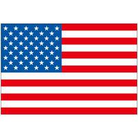 インクジェット国旗シール アメリカ合衆国 Lサイズ 約66mm×99mm