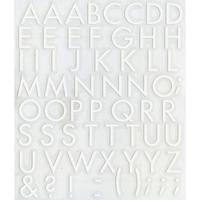 スコッチカルインレタシート 15mmセットパック 書体  フツーラメディウム 大文字 F3307L-047 ホワイト(047裏ホワイト)