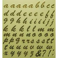スコッチカルインレタシート 15mmセットパック 書体  ブラッシュスプリクト 小文字 B7200S-431 ミラーゴールド
