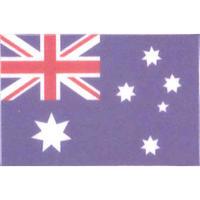 国旗フェイスシール オーストラリア 30mm×45mm 薄手