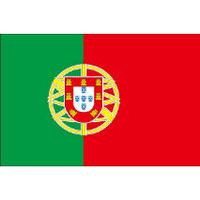 インクジェット国旗シール ポルトガル Mサイズ 約35mm×52mm