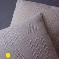 白糸刺繍「白い木たちのクッション」【刺繍キット】