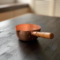 【飯田屋オリジナル】究極の熱伝導!純銅製雪平鍋 小サイズ(15cm)
