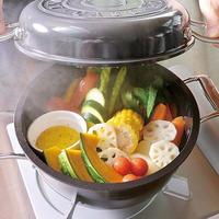 【NHKラジオすっぴん!で紹介】ガス専用!!軽くてこびりつかない第二世代の無水調理鍋ブラック