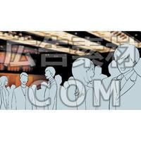パーティー会場(漫画広告素材#05)