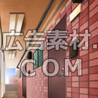 スマホ広告向け背景画像:マンション廊下(昼)