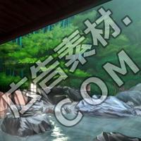 スマホ広告向け背景画像:豪華な露天風呂