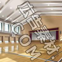 スマホ広告向け背景画像:学校の体育館(昼)