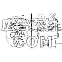セクハラおじさんの通勤(マンガ広告素材6枚)