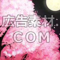 スマホ広告向け背景画像:夜桜1