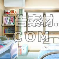 スマホ広告向け背景画像:男子高校生の部屋(昼)