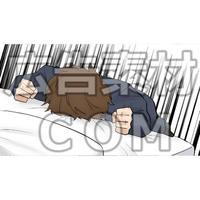 落ち込む男性(漫画広告素材#05)