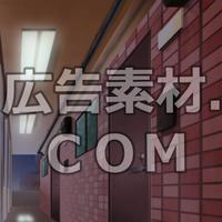 スマホ広告向け背景画像:マンション廊下(夜)