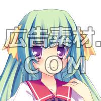 ニコニコ動画やゲーム雑誌で話題となった緑髪の女子高校生1年キャラアップ画像7枚(衣装/顔差分あり)