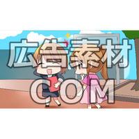 【漫画広告素材】就活・副業探している女子3