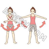 「バストアップ体操の図解2」JPG画像素材