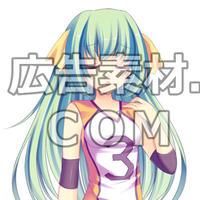 ニコニコ動画やゲーム雑誌で話題となった緑髪の女子高校生1年キャラ全身画像35枚(衣装/顔差分あり)