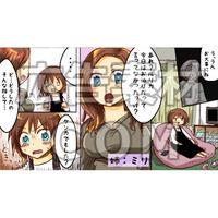 姉に心配される女性1(漫画広告素材#03)