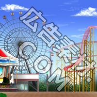 スマホ広告向け背景画像:遊園地1