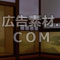スマホ広告向け背景画像:武家屋敷の室内(夜)
