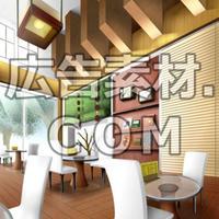 スマホ広告向け背景画像:お洒落なカフェ(昼)