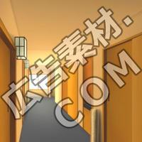 スマホ広告向け背景画像:高級旅館の室内廊下