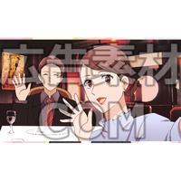 読者や視聴者にヒントを教えるカップル(漫画広告素材#05)