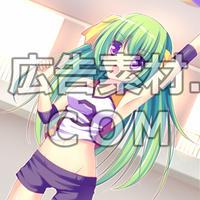 ニコニコ動画やゲーム雑誌で話題となった緑髪の女子高校生1年キャラスチル画像6(1枚絵)