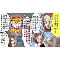 バストアップの指導を受ける女性4(漫画広告素材#03)