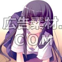 ニコニコ動画やゲーム雑誌で話題となった黒髪の女子高校生2年キャラスチル画像2(1枚絵)