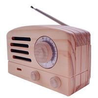 ラジオ木箱(ライトブラウン)