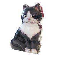 ネコ シェイプ缶 (ハチワレ)