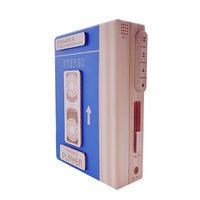 ※11月初旬販売開始※ポータブルカセットプレイヤー木箱(ブルー)