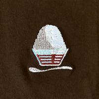 YB023 刺繍T《コオリ》 embroidered ice tee