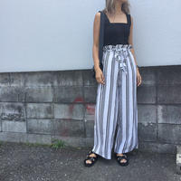stripe relax pants