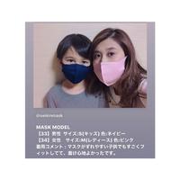 制菌ダブル立体マスク(ネイビー)(KIDS・S)   7枚セット(約1年分)