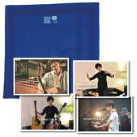 マスクにもなれるハンカチ<comes with MSG 2020/blue>・ポストカード&サインセット【E〜H】