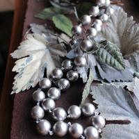 コットンパール ロングネックレス グレー CottonPearl Long Necklace(Gray) 90cm