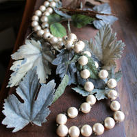 コットンパール ロングネックレス ホワイト|CottonPearl Long Necklace 90cm