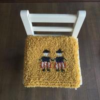 ノッティング織り椅子敷きのキット(糸のセット)双子柄
