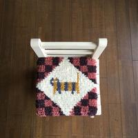 ノッティング織り椅子敷きのキット(糸のセット)猫柄