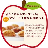 よしこたんのアップルパイ 選べるアソート1種6個セット