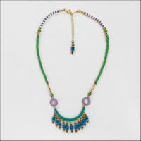 Ramza(single) necklace emerald*lavender